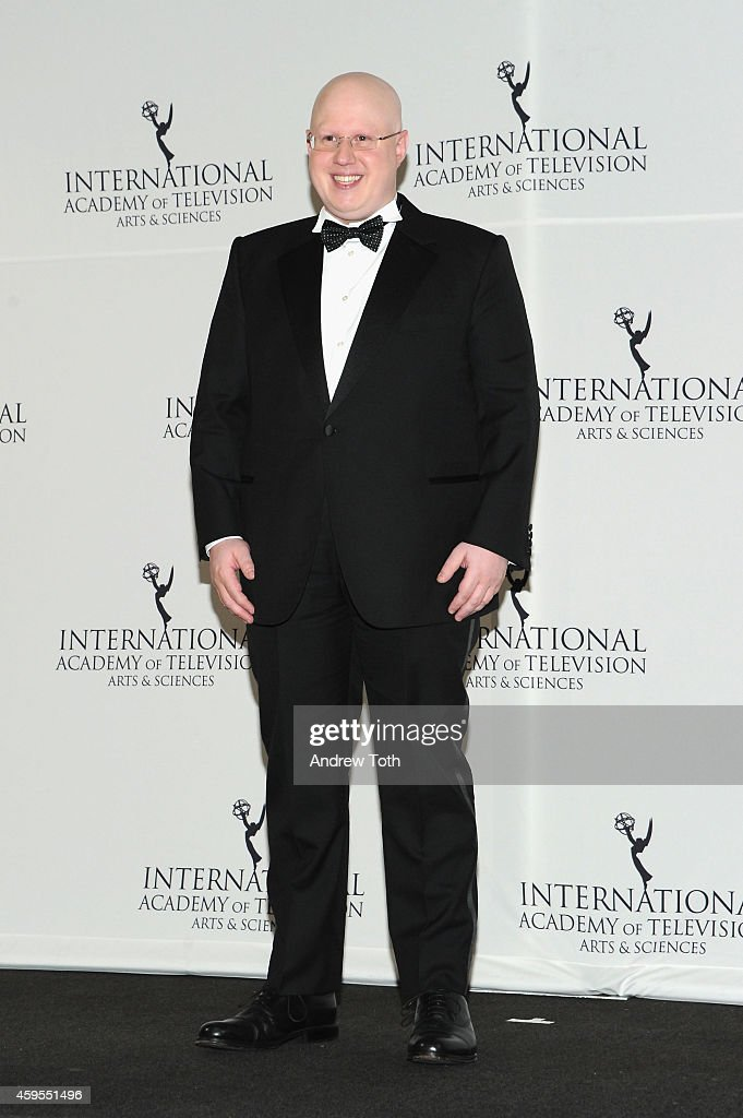 Comedian and host Matthew Lucas attends the 2014 International Academy of Television Arts & Sciences Awards Press Room at New York Hilton on November 24, 2014 in New York City.