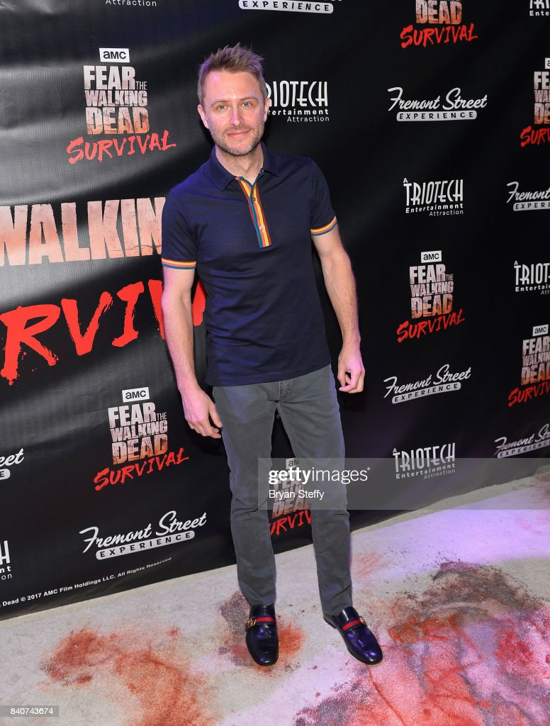 Comedian and Nerdist Founder and CEO Chris Hardwick attends the Fear the Walking Dead Survival attraction grand opening at the Fremont Street Experience on August 29, 2017 in Las Vegas, Nevada.