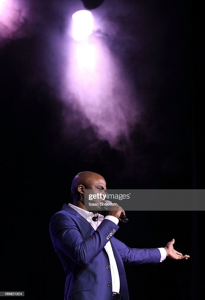 Comedian and television personality Wayne Brady speaks onstage at the 12th Annual Michael Jordan Celebrity Invitational Gala At ARIA Resort & Casino on April 5, 2013 in Las Vegas, Nevada.