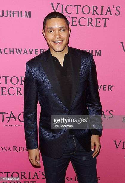 Comedian and The Daily Show host Trevor Noah attends the 2015 Victoria's Secret Fashion Show after party at TAO Downtown on November 10 2015 in New...
