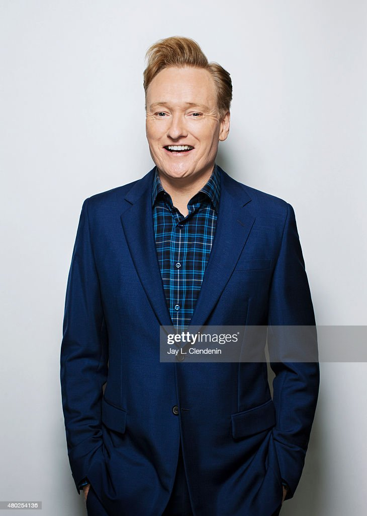 Comedian and TV host <a gi-track='captionPersonalityLinkClicked' href=/galleries/search?phrase=Conan+O%27Brien&family=editorial&specificpeople=208095 ng-click='$event.stopPropagation()'>Conan O'Brien</a> is photographed for Los Angeles Times on June 9, 2015 in West Hollywood, California. Published Image.