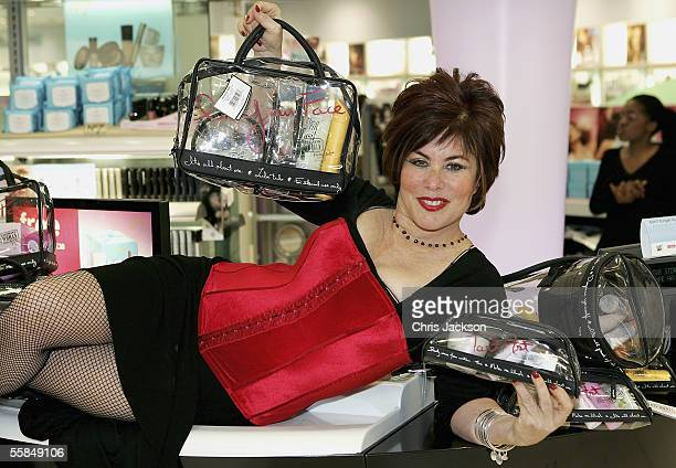 Comedian and TV personality Ruby Wax launches her new range of travel bags for women at Boots Flagship Store Sedley Place on October 4 2005 in London...