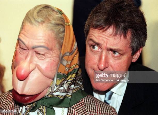 Comedian and tv presenter Griff Rhys Jones at a celebrity farewell party for the old tv series at Sothebys in London after two hundred puppets went...