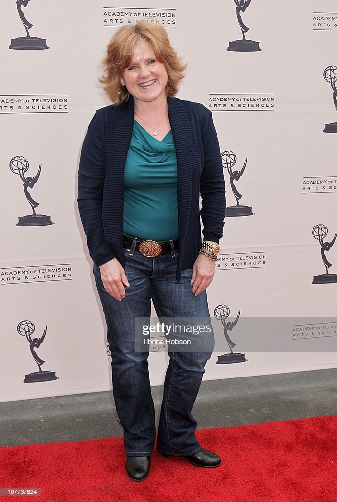 Comedian and voice artist, Nancy Cartwirght attends the Academy of Television Arts & Sciences presents an evening with Michael Buble at the Wadsworth Theater on April 28, 2013 in Los Angeles, California.