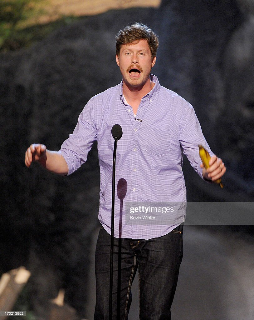Comedian Anders Holm of Workaholics performs onstage during Spike TV's Guys Choice 2013 at Sony Pictures Studios on June 8, 2013 in Culver City, California.