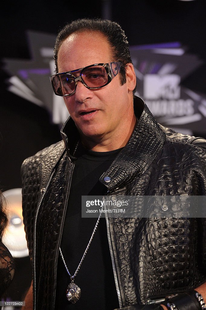 Comedian <a gi-track='captionPersonalityLinkClicked' href=/galleries/search?phrase=Andrew+Dice+Clay&family=editorial&specificpeople=678985 ng-click='$event.stopPropagation()'>Andrew Dice Clay</a> arrives at the 2011 MTV Video Music Awards at Nokia Theatre L.A. LIVE on August 28, 2011 in Los Angeles, California.