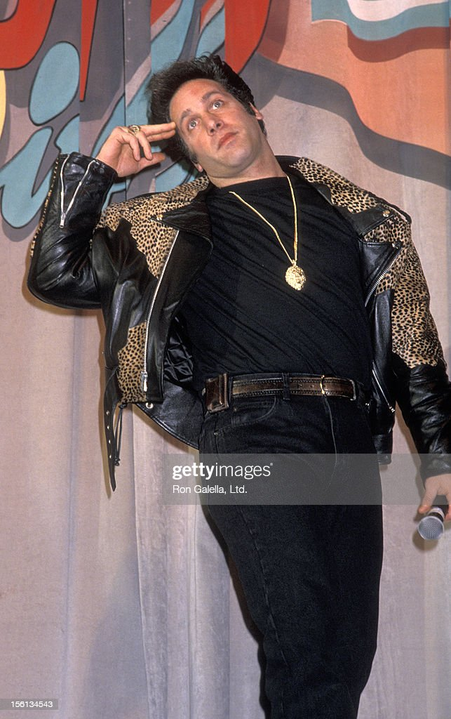 Comedian <a gi-track='captionPersonalityLinkClicked' href=/galleries/search?phrase=Andrew+Dice+Clay&family=editorial&specificpeople=678985 ng-click='$event.stopPropagation()'>Andrew Dice Clay</a> attending 'ShoWest '90 Convention' on February 8, 1990 at Bally's Hotel and Casino in Las Vegas, Nevada.