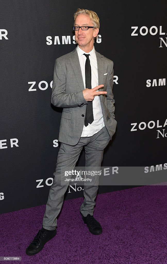 Comedian Andy Dick attends the 'Zoolander 2' World Premiere at Alice Tully Hall on February 9, 2016 in New York City.