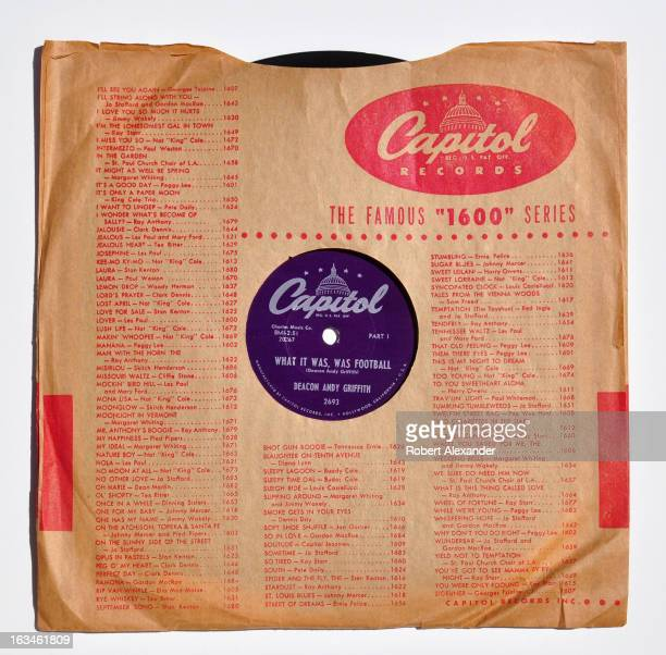 Comedian Andy Griffith's career was launched with the release of his recorded monologue 'What It Was Was Football' on the Capitol Records label in...