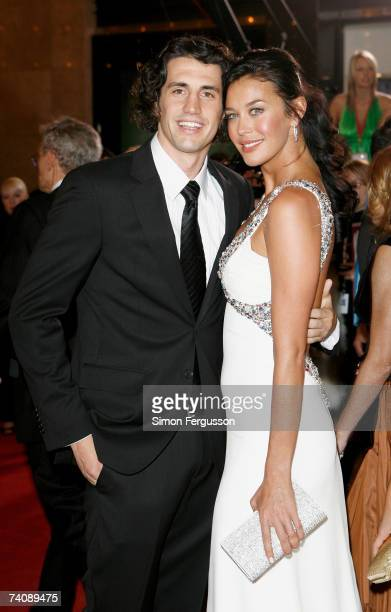 Comedian Andy Lee and model Megan Gale arrive at the 2007 TV Week Logie Awards at the Crown Casino on May 6 2007 in Melbourne Australia The annual...