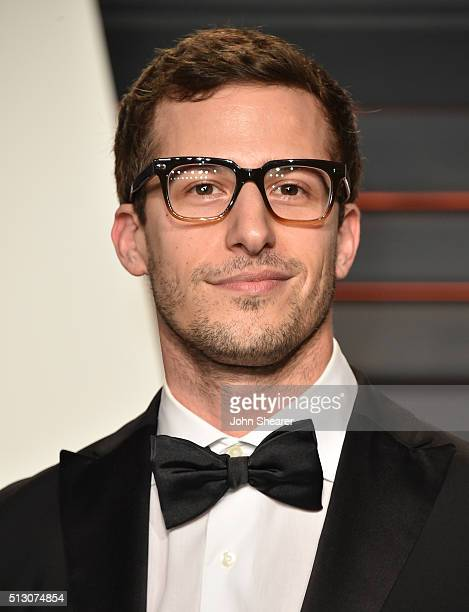Comedian Andy Samberg arrives at the 2016 Vanity Fair Oscar Party Hosted By Graydon Carter at Wallis Annenberg Center for the Performing Arts on...