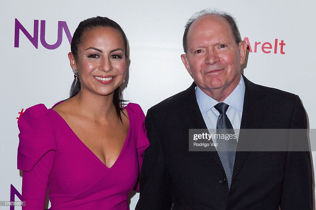 Comedian Anjelah Johnson (L) and David Lopez attend the NUVOtv Network Launch Party at The London West Hollywood on July 16, 2013 in West Hollywood, California.