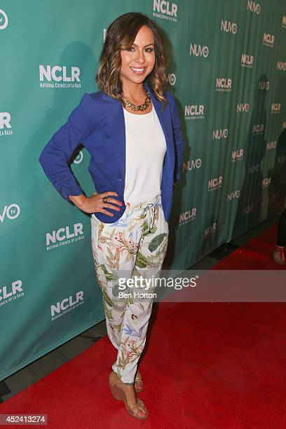 Comedian Anjelah Johnson attends the NUVOtv Comedy Night at Los Angeles Convention Center on July 19 2014 in Los Angeles California