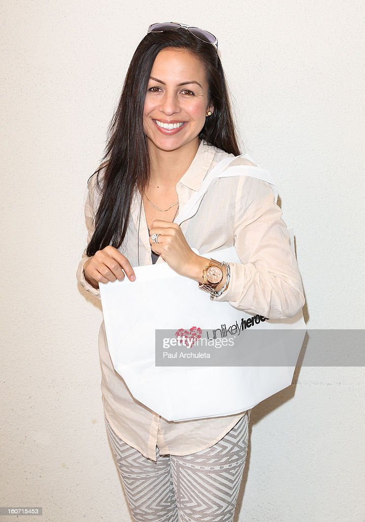 Comedian Anjelah Johnson attends The Unlikely Heroes charity luncheon event in support of anti-human trafficking at the Veggie Grill on February 4, 2013 in Los Angeles, California.