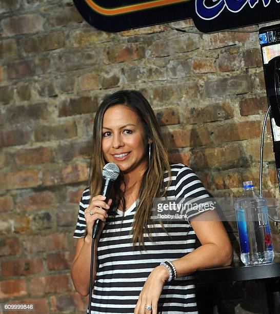 Comedian Anjelah Johnson performs at The Stress Factory Comedy Club on September 23 2016 in New Brunswick New Jersey