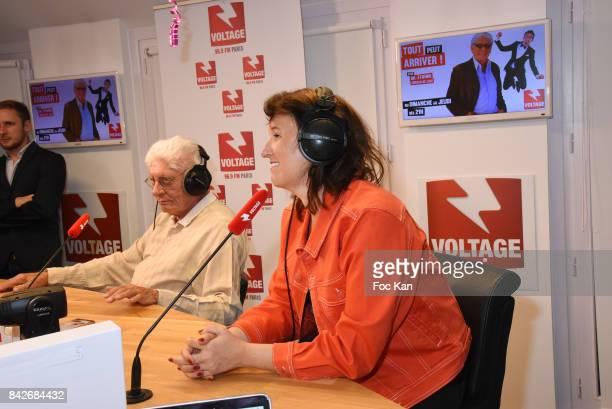 Comedian Anne Roumanoff and Docteur Etienne from Tout Peut S'arranger attend The Jordan Guisnel Radio Voltage Cocktail At Les Indes Radio Rue De...