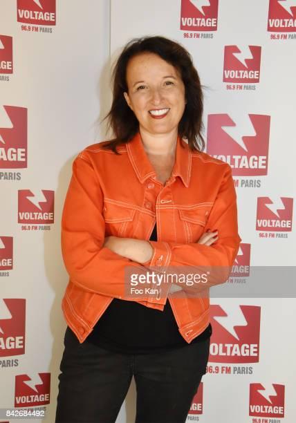 Comedian Anne Roumanoff attends The Jordan Guisnel Radio Voltage Cocktail At Les Indes Radio Rue De Lubeck on September 4 2017 in Paris France