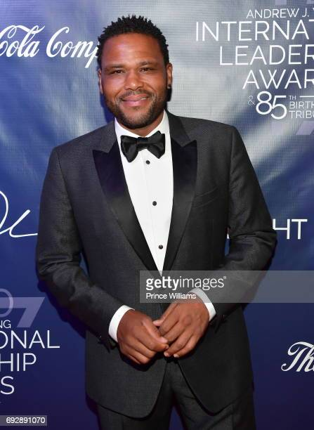 Comedian Anthony Anderson attends the 2017 Andrew Young International Leadership awards and 85th Birthday tribute at Philips Arena on June 3 2017 in...