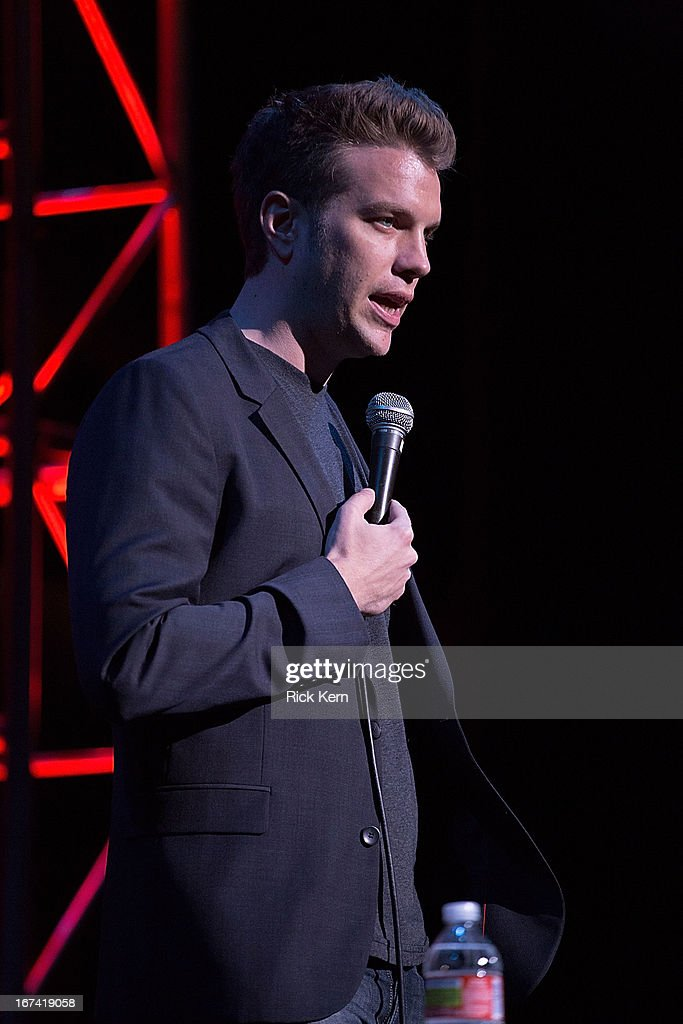 Comedian Anthony Jeselnik performs on stage during the Moontower Comedy Festival at the Paramount Theatre on April 24, 2013 in Austin, Texas.