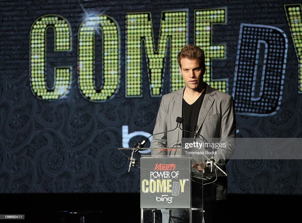 Comedian Anthony Jeselnik speaks onstage at Variety's 3rd annual Power of Comedy event presented by Bing benefiting the Noreen Fraser Foundation held at Avalon on November 17, 2012 in Hollywood, California.