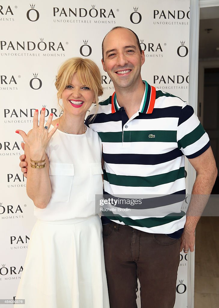 Comedian Arden Myrin and actor Tony Hale attend the HBO Luxury Lounge featuring PANDORA at Four Seasons Hotel Los Angeles at Beverly Hills on August 23, 2014 in Beverly Hills, California.