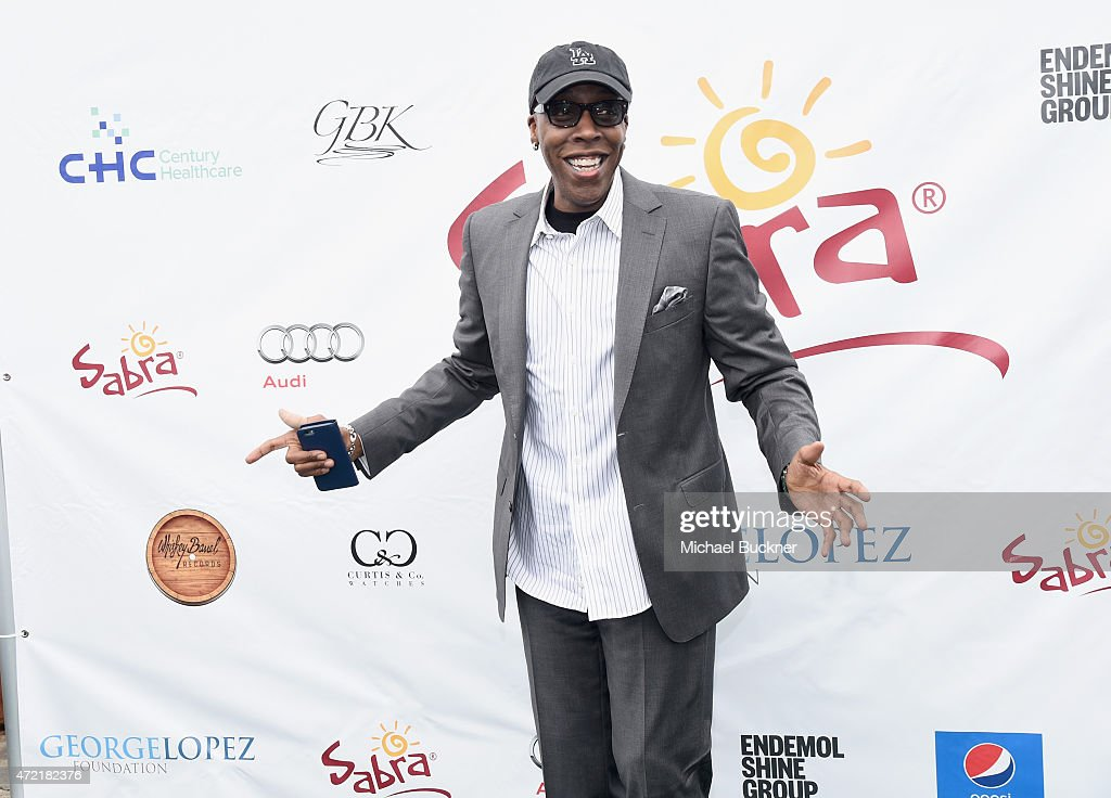 Comedian <a gi-track='captionPersonalityLinkClicked' href=/galleries/search?phrase=Arsenio+Hall&family=editorial&specificpeople=211441 ng-click='$event.stopPropagation()'>Arsenio Hall</a> attended the 8th Annual George Lopez Celebrity Golf Classic presented by Sabra Salsa to benefit The George Lopez Foundation on Monday, May 4th at the Lakeside Golf Club on May 4, 2015 in Toluca Lake, California.