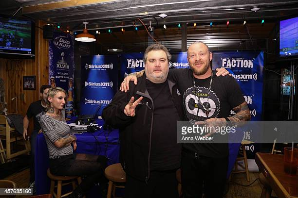 Comedian Artie Lange and SiriusXM DJ Jason Ellis attend SiriusXM's The Jason Ellis Show Live From Hooters In New York at Hooters on October 22 2014...
