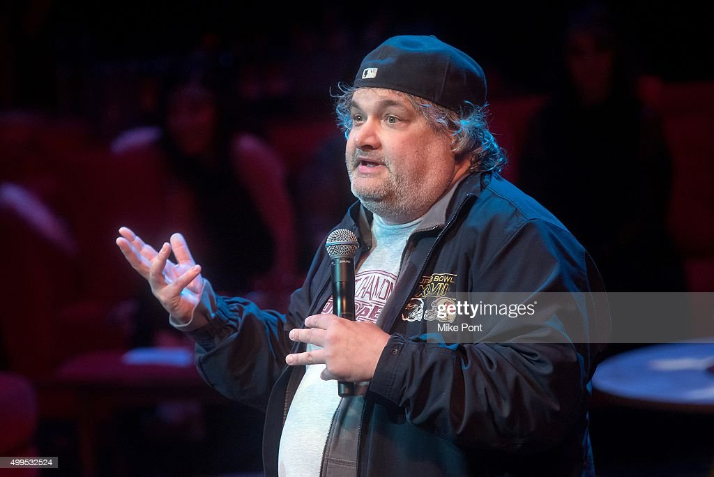 Comedian Artie Lange performs during the Christmas Without Tears New York Concert at BAM Peter Jay Sharp Building on December 1 2015 in the Brooklyn...