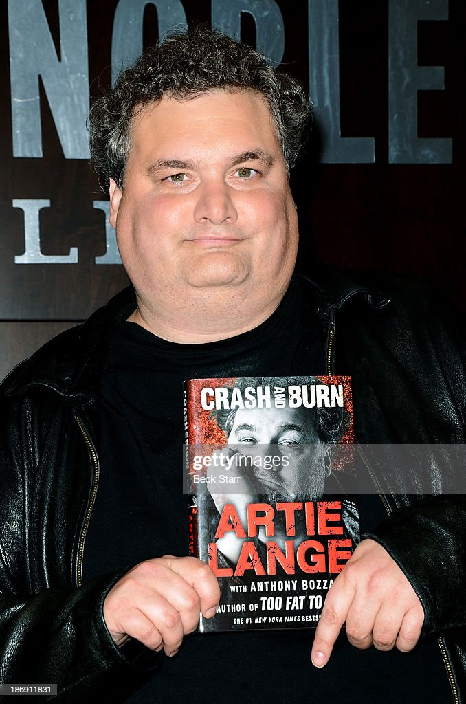 Comedian Artie Lange signs copies of his new book 'Crash And Burn' at Barnes Noble bookstore at The Grove on November 4 2013 in Los Angeles California