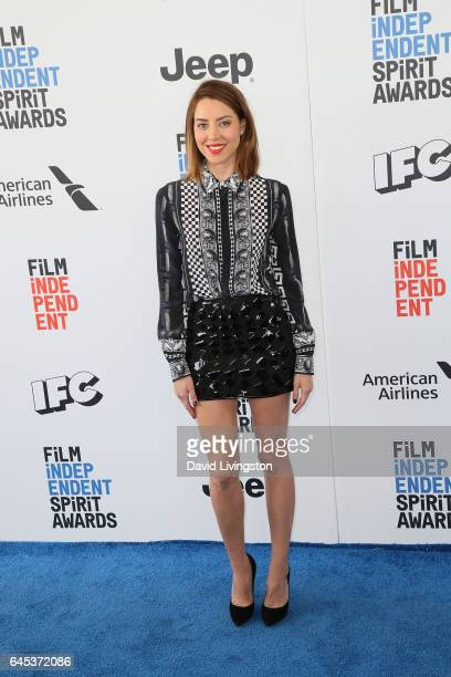 Comedian Aubrey Plaza attends the 2017 Film Independent Spirit Awards on February 25 2017 in Santa Monica California