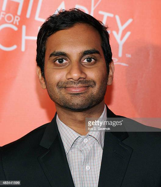 Comedian Aziz Ansari attends Hilarity for Charity NYC Cocktail Party at The Jane Hotel on April 8 2014 in New York City