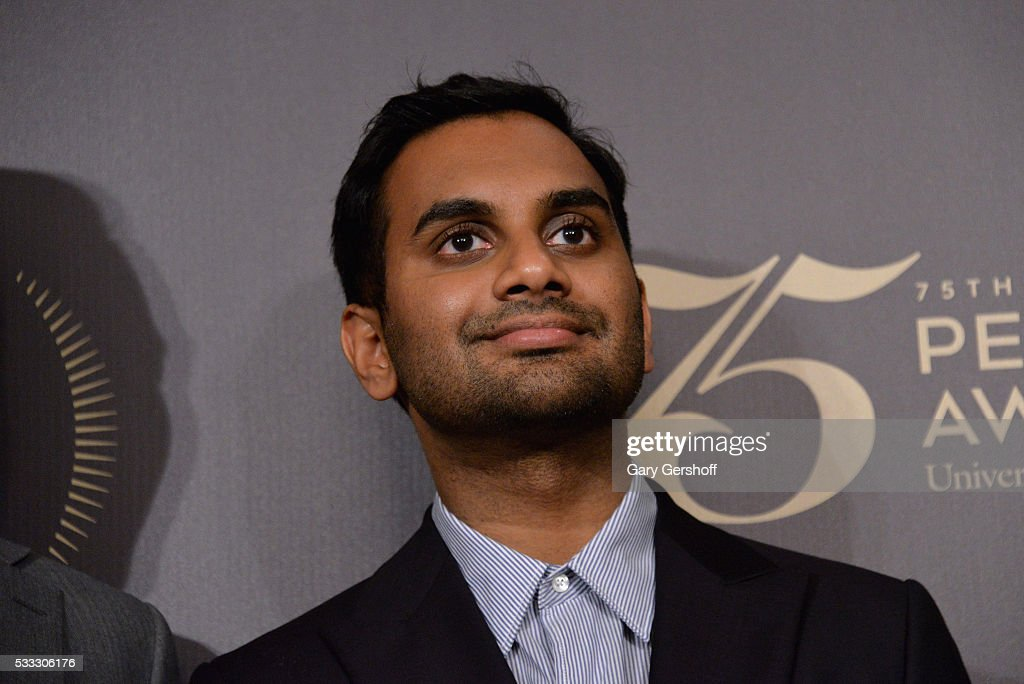 Comedian Aziz Ansari poses during The 75th Annual Peabody Awards Ceremony at Cipriani Wall Street on May 21 2016 in New York City
