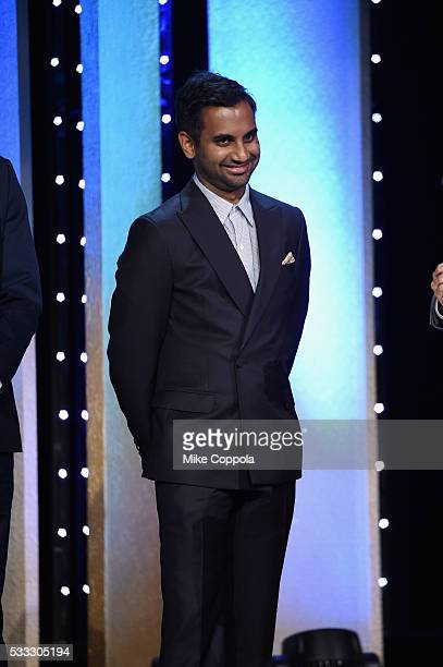 Comedian Aziz Ansari speaks onstage at The 75th Annual Peabody Awards Ceremony at Cipriani Wall Street on May 21 2016 in New York City
