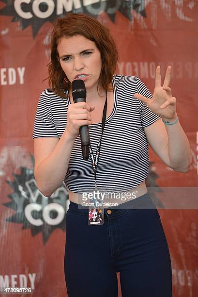 Comedian Beth Stelling performs onstage at Seaside Park on June 21 2015 in Ventura California
