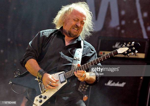 Comedian Bill Bailey performs live on stage during the third day of the Sonisphere Rock Festival at Knebworth House on July 10 2011 in Stevenage...