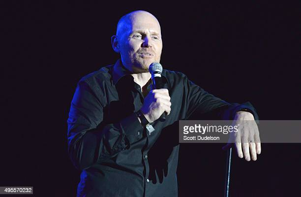 Comedian Bill Burr performs onstage during Rhonda's Kiss Benefit Concert at the El Rey Theatre on November 3 2015 in Los Angeles California