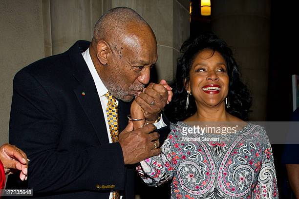 Comedian Bill Cosby and actress Phylicia Rashad attend the 2nd annual Legacy to Promise Gala at The Riverside Theatre on September 26 2011 in New...