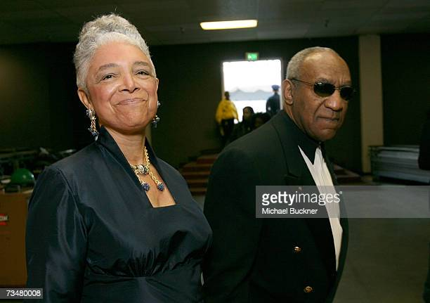 Comedian Bill Cosby and wife Camille O Cosby walk backstage during the 38th annual NAACP Image Awards held at the Shrine Auditorium on March 2 2007...