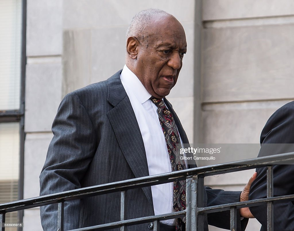 Comedian Bill Cosby arrives at Montgomery County Courthouse on May 24, 2016 in Norristown, Pennsylvania.