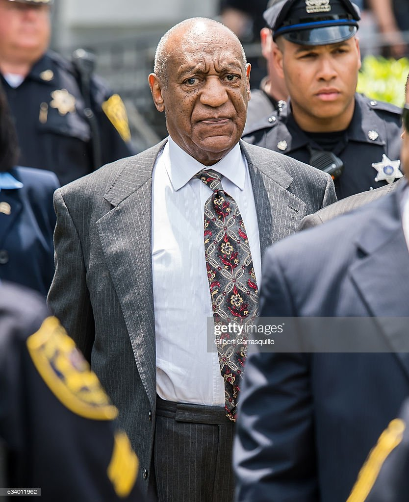 Comedian Bill Cosby is seen leaving the Montgomery County Courthouse on May 24, 2016 in Norristown, Pennsylvania.