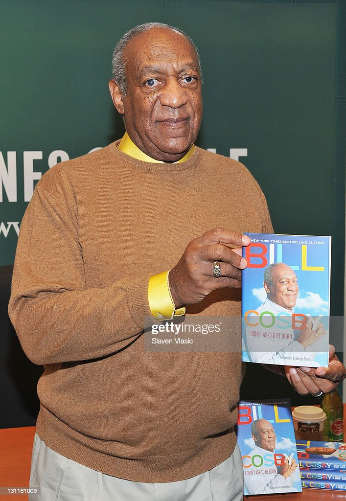 Comedian <a gi-track='captionPersonalityLinkClicked' href=/galleries/search?phrase=Bill+Cosby&family=editorial&specificpeople=206281 ng-click='$event.stopPropagation()'>Bill Cosby</a> promotes new book 'I Didn't Ask To Be Born: But I'm Glad I Was' at the Barnes & Noble, 5th Avenue on November 2, 2011 in New York City.