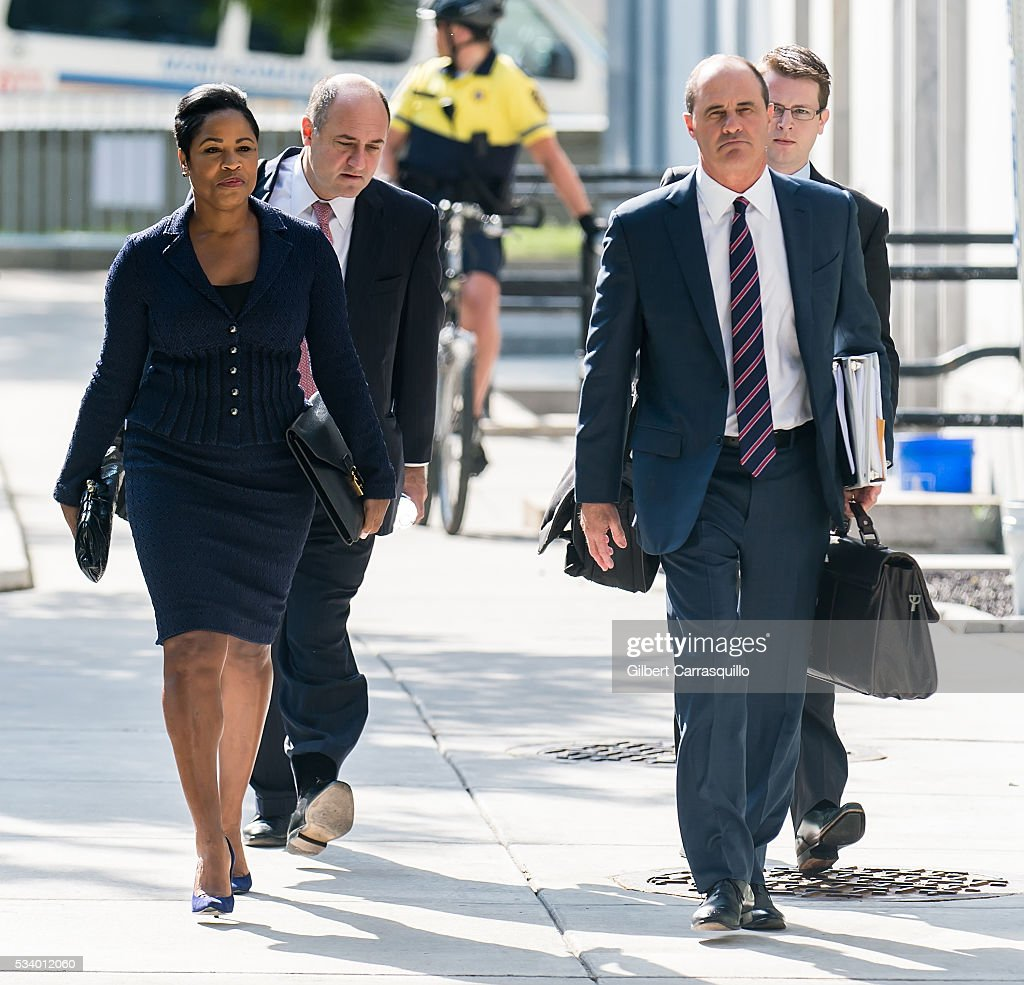 Comedian Bill Cosby's Attorneys <a gi-track='captionPersonalityLinkClicked' href=/galleries/search?phrase=Monique+Pressley&family=editorial&specificpeople=14868191 ng-click='$event.stopPropagation()'>Monique Pressley</a> and Brian J. McMonagle arrive at Montgomery County Courthouse on May 24, 2016 in Norristown, Pennsylvania.