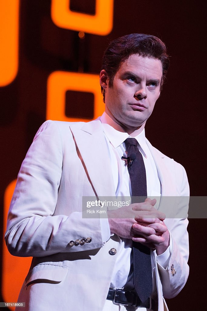 Comedian Bill Hader performs on stage during the Moontower Comedy Festival at the Paramount Theatre on April 24, 2013 in Austin, Texas.