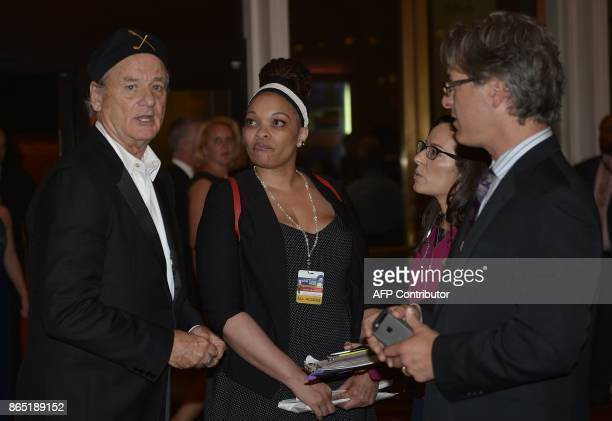 Comedian Bill Murray arrives for the 20th Annual Mark Twain Prize for American Humor honoring former talk show host David Letterman at the Kennedy...