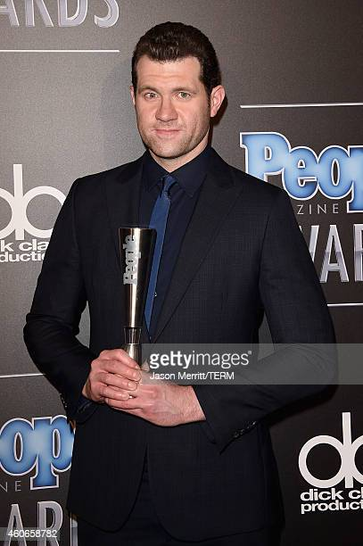 Comedian Billy Eichner winner of Breakout Star of the Year poses in the press room during the PEOPLE Magazine Awards at The Beverly Hilton Hotel on...