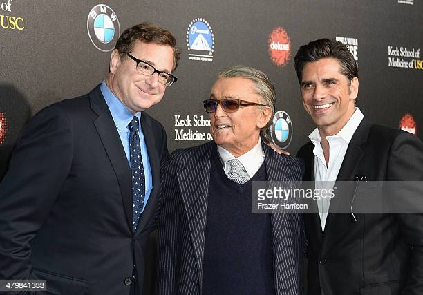Comedian Bob Saget producer Robert Evans and actor John Stamos at arrive at the 2nd Annual Rebels With A Cause Gala at Paramount Studios on March 20...