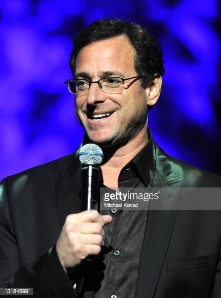 Comedian Bob Saget speaks onstage at Variety's Power of Comedy presented by Sims 3 in Partnership with Bing at Club Nokia on December 4 2010 in Los...