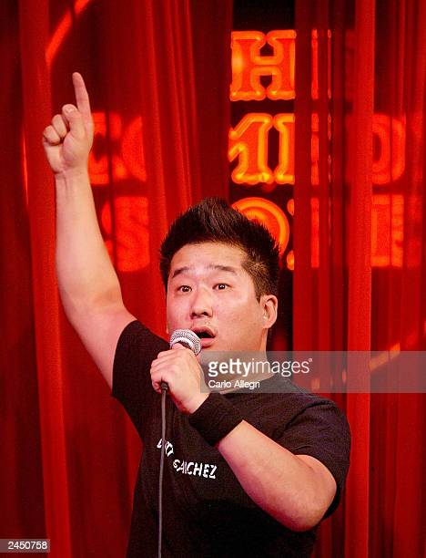 Comedian Bobby Lee of Mad TV performs a set at the Comedy Store August 30 2003 in Hollywood California