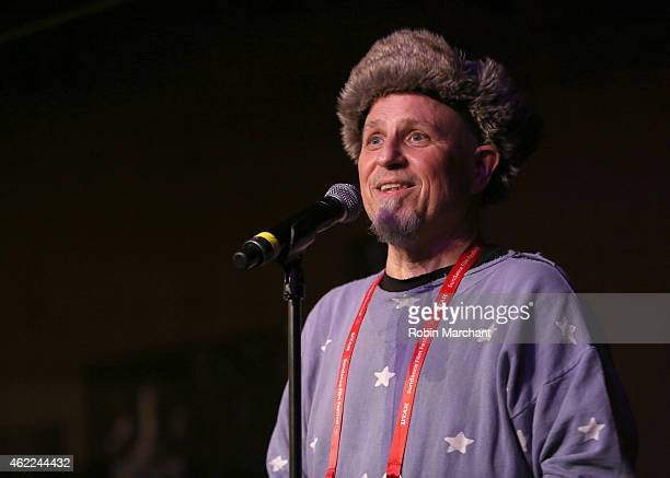 Comedian Bobcat Goldthwait speaks onstage at the Stand Up Comedy Night during the 2015 Sundance Film Festival on January 25 2015 in Park City Utah