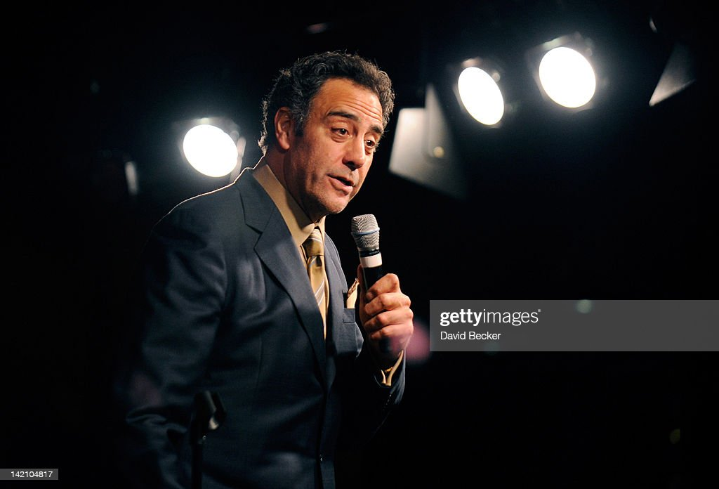 Comedian Brad Garrett performs at grand opening of his new club Brad Garrett's Comedy Club at the MGM Grand Hotel/Casino on March 29 2012 in Las...